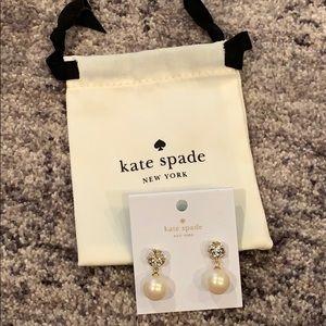 Kate Spade New York Bow Pearl Drop Earrings